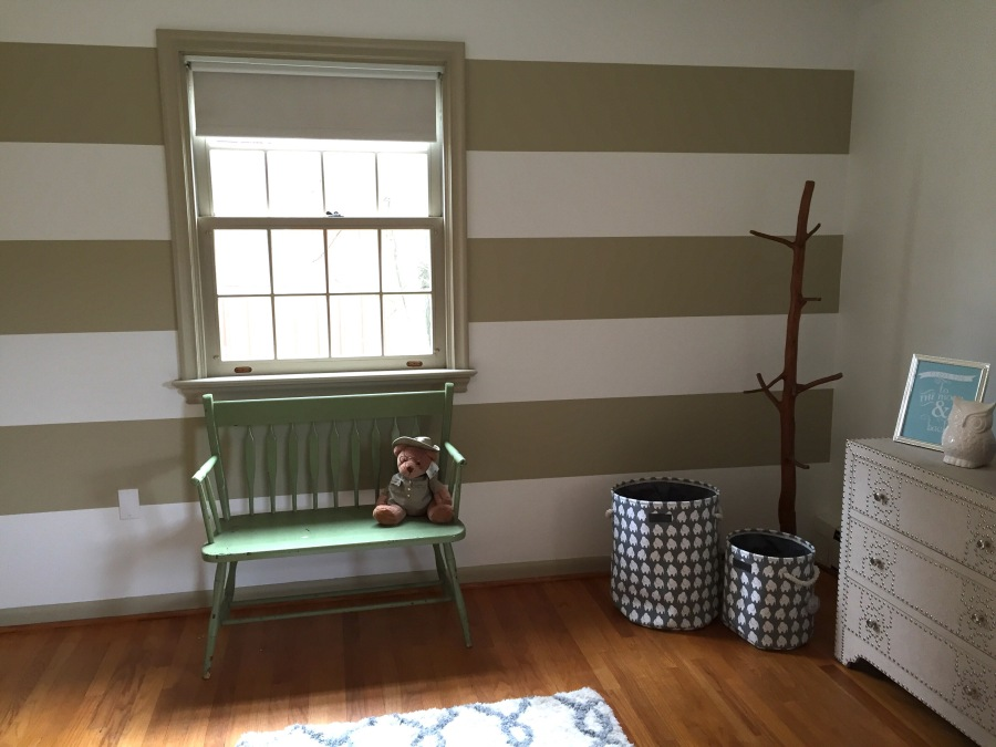 Stripes! Our Nursery DIY